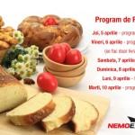 Programul de lucru pentru perioada Sărbătorilor Pascale