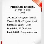 Program special de 1 iunie